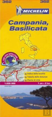 Michelin Mapa Local Itália: Campania, Basilicata