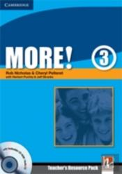 More! Level 3 Teacher'S Resource Pack With Testbuilder Cd-Rom Extra