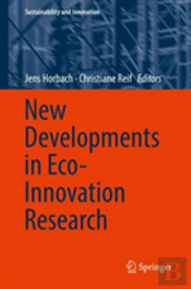 New Developments In Eco-Innovation Research