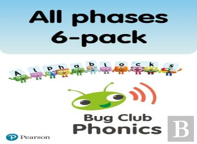 New Phonics Bug And Alphablocks All Phases 6-Pack