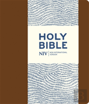 Niv Journalling Brown Imitation Leather Bible With Clasp