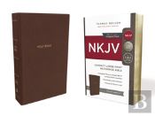 Nkjv, Reference Bible, Compact Large Print, Imitation Leather, Brown, Red Letter Edition, Comfort Print