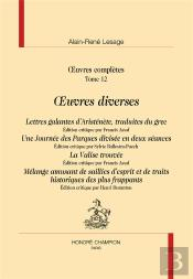 Oeuvres Complètes T.12 ; Oeuvres Diverses