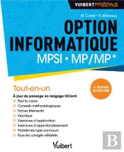 Option Informatique Mpsi-Mp/Mp 2ed