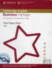 Past Paper Pack For Cambridge English Business Vantage 2011 Exam Papers And Teacher'S Booklet With Audio Cd