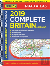 Philip'S 2019 Complete Road Atlas Britain And Ireland - Spiral