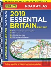 Philip'S 2019 Essential Road Atlas Britain And Ireland - Spiral A4