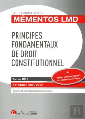 Principes Fondamentaux De Droit Constitutionnel - 11eme Edition