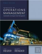 Principles Of Operations Management Plus New Myomlab With Pearson Etext