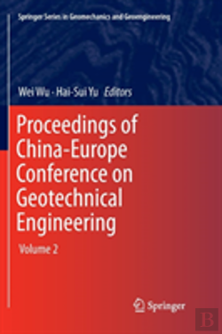 Bertrand.pt - Proceedings Of China-Europe Conference On Geotechnical Engineering