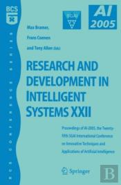 Research And Development In Intelligent Systems Xxii