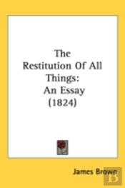 Restitution Of All Things
