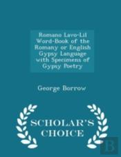 Romano Lavo-Lil Word-Book Of The Romany
