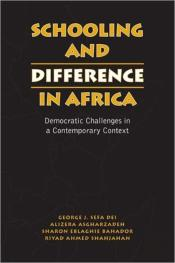 Schooling And Difference In Africa