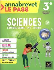 Sciences (Svt, Physique-Chimie, Technologie) 3e Brevet 2018