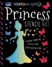 Scratch & Sparkle Princess Stencil Art
