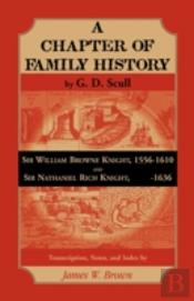 Scull'S 'A Chapter Of Family History:' S