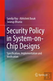 Security Policy In System-On-Chip