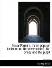 Social Powers; Three Popular Lectures On