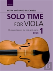 Solo Time For Viola Book