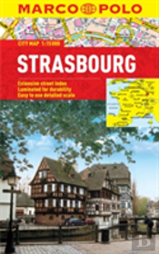Strasbourg Marco Polo Laminated City Map