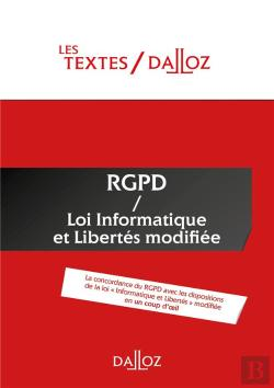 Bertrand.pt - Textes Rgpd + Loi Informatique Et Libertes De 1978 Modifiee. Protection Des Donnees