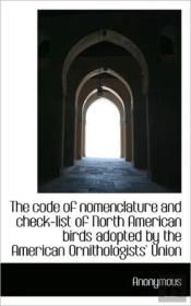 The Code Of Nomenclature And Check-List