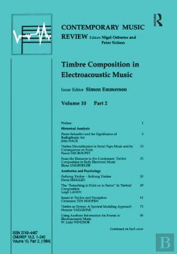 Bertrand.pt - Timbre Composition In Electroacoustic Music