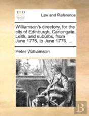 Williamson'S Directory, For The City Of