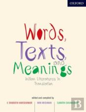 Words, Texts, And Meanings