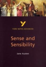 York Notes Advanced On Jane Austen'S  'Sense And Sensibility'